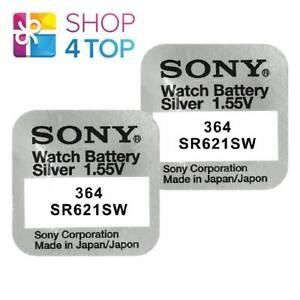 2-SONY-364-SR621SW-BATTERIES-SILVER-OXIDE-1-55V-WATCH-BATTERY-EXP-2021-NEW