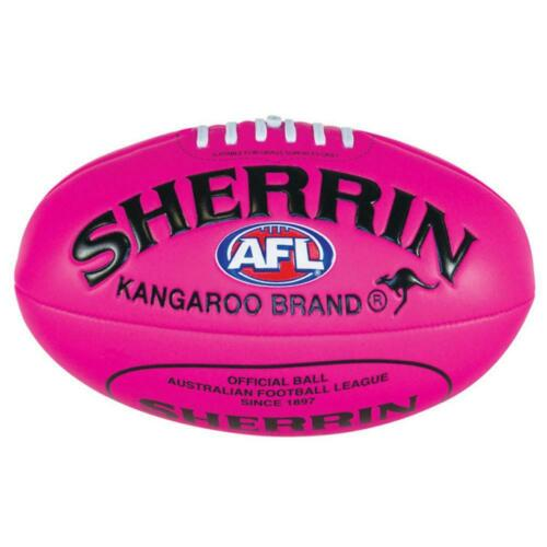 AFL Sherrin Super Soft Touch Ball In Pink Padded PVC Football Size 3