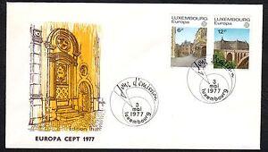 LUSSEMBURGO-1977-FDC-Europa-CEPT