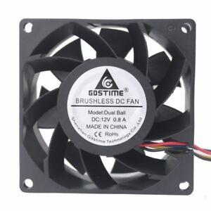 80x80x38mm-80mm-8cm-Cooling-Case-Fan-12V-Ball-Brg-4pin-FG-PWM-PC-Computer-Cooler
