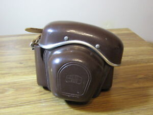 Zeiss-Ikon-AG-Leather-Camera-Case-Vintage-1950-039-s-Very-Nice