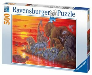 500 TEILE PUZZLE, Abendrot in Afrika RAVENSBURGER 14288