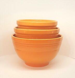 Fiestaware Tangerine 3 Piece Baking Bowl Set Fiesta Orange NIB ...