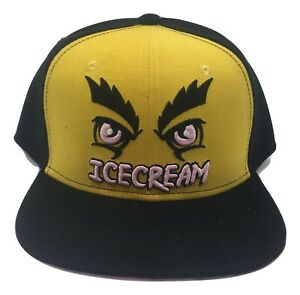 Billionaire Boys Club BB SnapBack Ice Cream Hat Embroidered Skull BBC Authentic