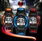 Waterproof Watch Mens Boy's Sports Digital LED Quartz Alarm Date Wrist Watches