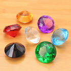 7 Colors Glass Crystal Diamond Shape Paperweight Jewelry Wedding Decor Gift 40mm