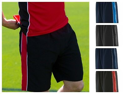 Finden & Hales Contrast Shorts - Elasticated Waist And Mesh Lined Panel - Sports