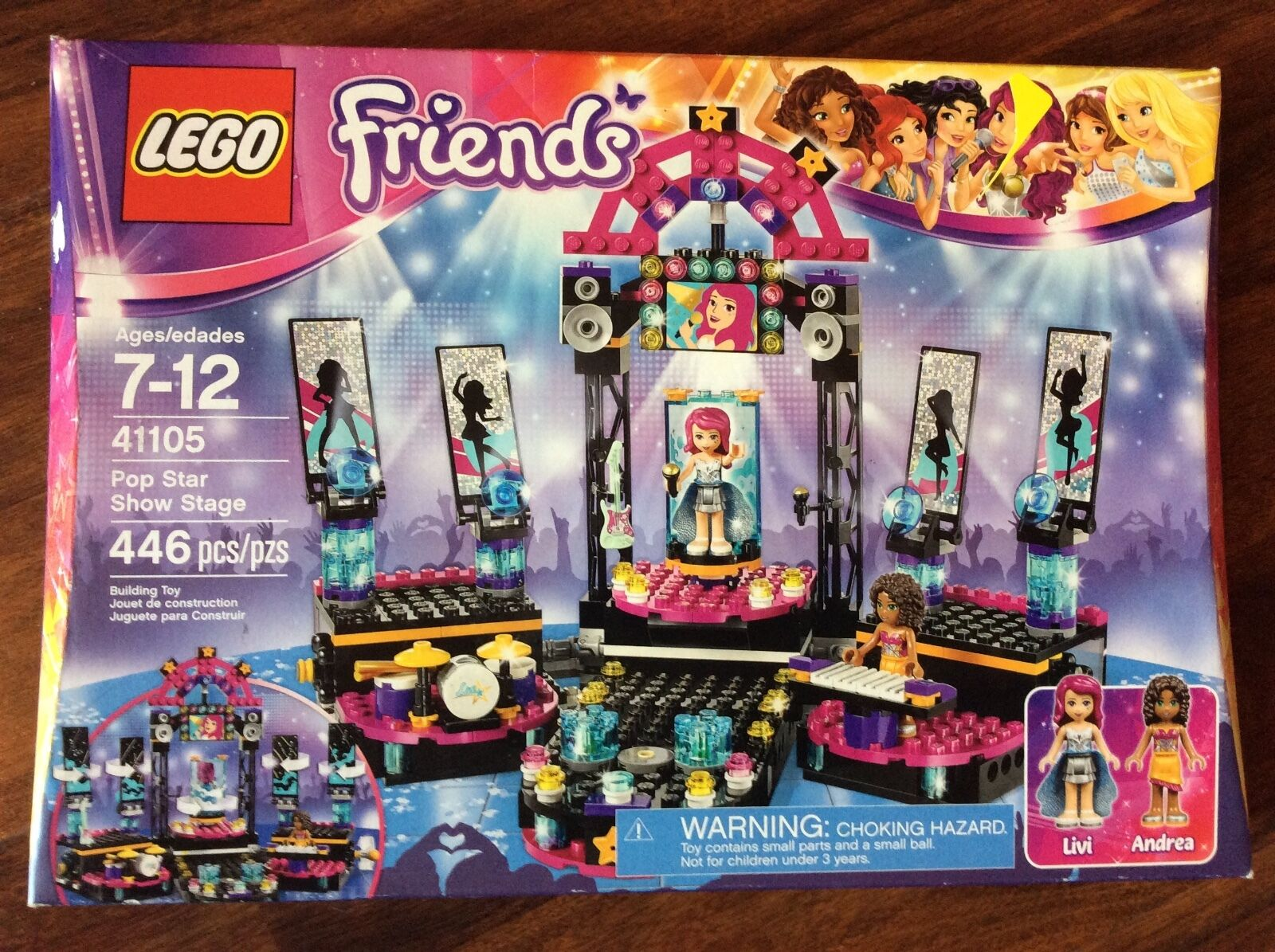 New Lego Friends Pop Star Show Stage Set 41105 in Damaged Box