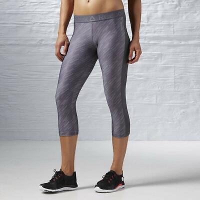 Hingebungsvoll New Reebok Workout Ready Womens Printed Capri 3/4 Pants Uk 4 -18 Grey Gym Sport SpäTester Style-Online-Verkauf Von 2019 50%