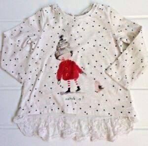 99a3b9cf82e40 Baby Girl 6-9 Months Next Winter theme Jersey tunic top lace detail ...