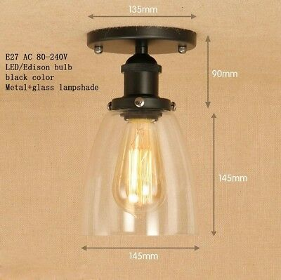 Iron Glass Lampshade Ceiling Lamp Lights Sconce Luminaire Lighting Fixtures Deco