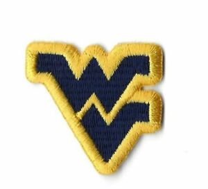 new style 27fd8 10e00 Image is loading West-Virginia-WVU-Navy-Logo-Iron-On-Embroidered-