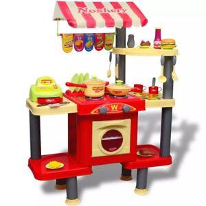vidaXL Giocattolo bambini Cucina grande in plastica con accessori ...