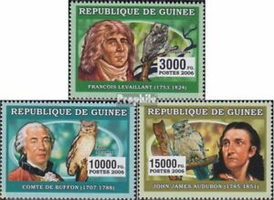 Africa Guinea 4281-4283 Unmounted Mint Topical Stamps Never Hinged 2006 Naturalists Buy One Get One Free
