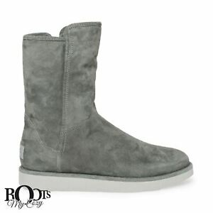 UGG-ABREE-SHORT-GRIGIO-SUEDE-SHEARLING-WOMENS-BOOTS-SIZE-US-10-UK-8-5-EU-41-NEW