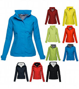 US Basic Damen Jacke S M L XL XXL Übergangs-Regenjacke Frühling Kapuzenjacke