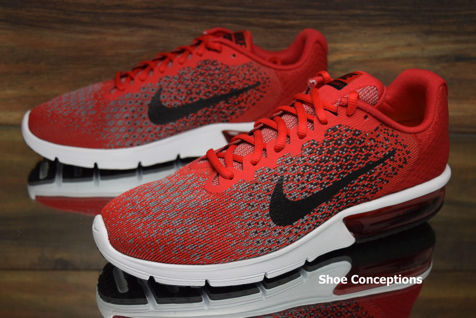 3783e4c58e3 Nike Air Max Sequent Sequent Sequent 2 Red Black 852461-600 Running Shoes  Men s ...