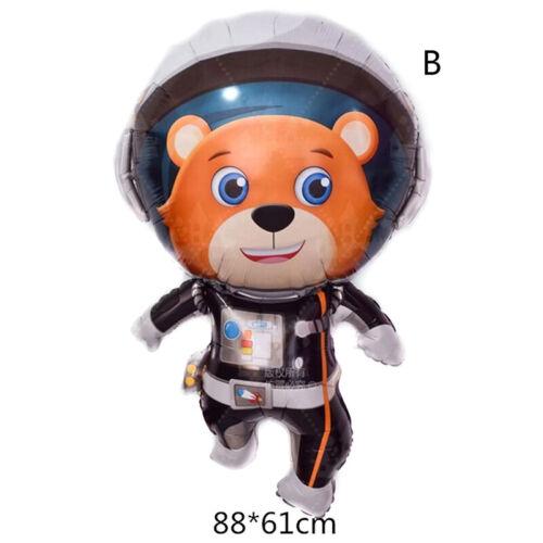 Bear Monkey Unicorns foil balloons Space theme party kids hero astronaut toy