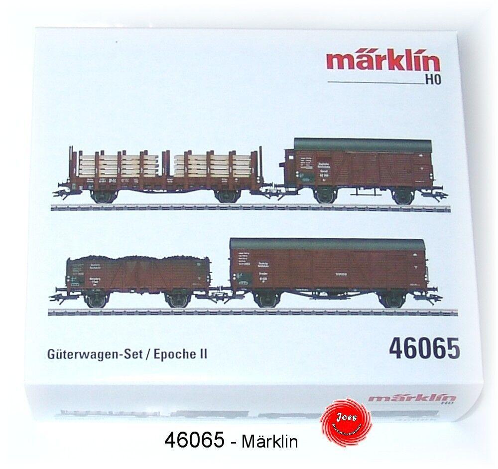 MÄRKLIN 46065 Güterwagen-Set der DRB 4-teilig  NEU in OVP