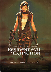 Resident Evil Extinction Steelbook Edition 100 Uncut New