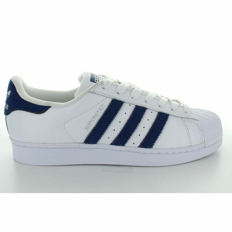Cheap Nice SUPERSTAR WHITE NAVY on the sale