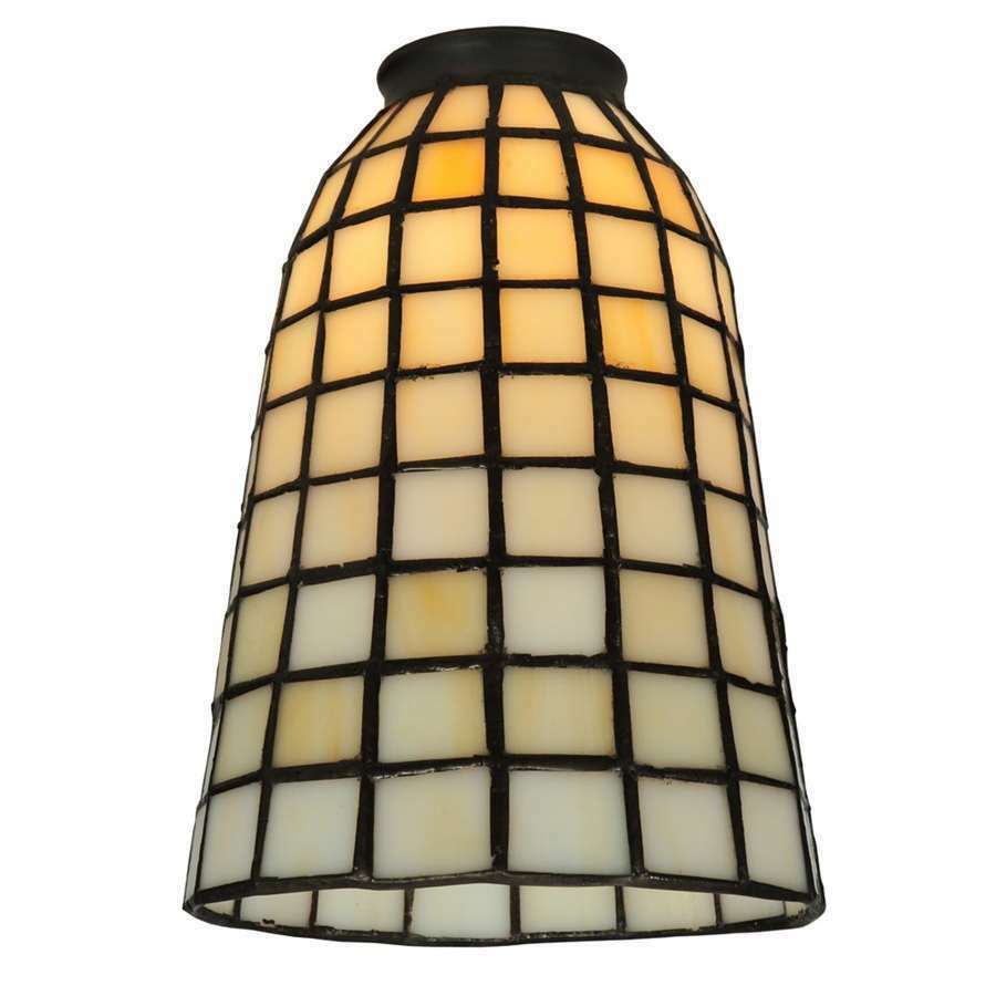 Meyda Lighting 5'W Geometric Beige Replacement Shade, Beige - 67039