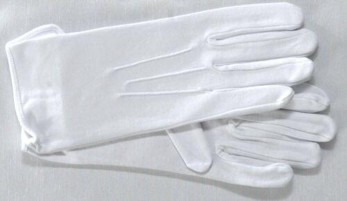 L Free post men/'s coton cérémonie XL plus gants avec bouton maçonnique s M