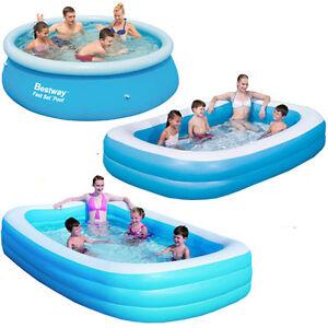 Bestway large paddling garden pool kids fun family for Inflatable garden swimming pool