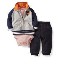 New Carter's 3 Piece All Star Rookie Cardigan Bodysuit Pant Set NWT 9 12 18 24m