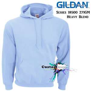 Gildan-Light-Blue-Hoodie-Heavy-Blend-Basic-Hooded-Sweat-Mens-Pullover