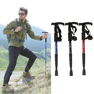 Utility-Retractable-Foldable-Walking-Hiking-Stick-Climbing-Cane-Alpenstock-1Pc
