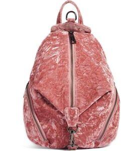 NWT-Rebecca-Minkoff-Medium-Velvet-Julian-Backpack-Soft-Pink-MSRP-245