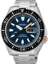 NEW MEN'S BLUE DIAL SEIKO SUPERIOR 200m AIR DIVERS 24 JEWEL AUTOMATIC SRP493K1