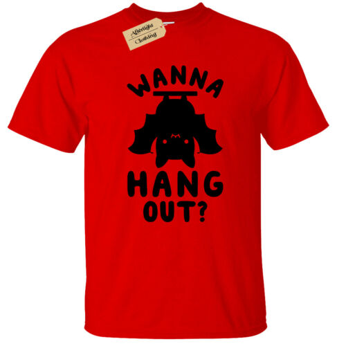 Kids Boys Girls WANNA HANG OUT T Shirt Funny Bat top