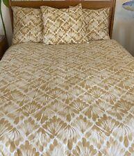 West Elm Organic Fan Diamond F//Q Duvet Cover NIP Horseradish Yellow Full//Queen