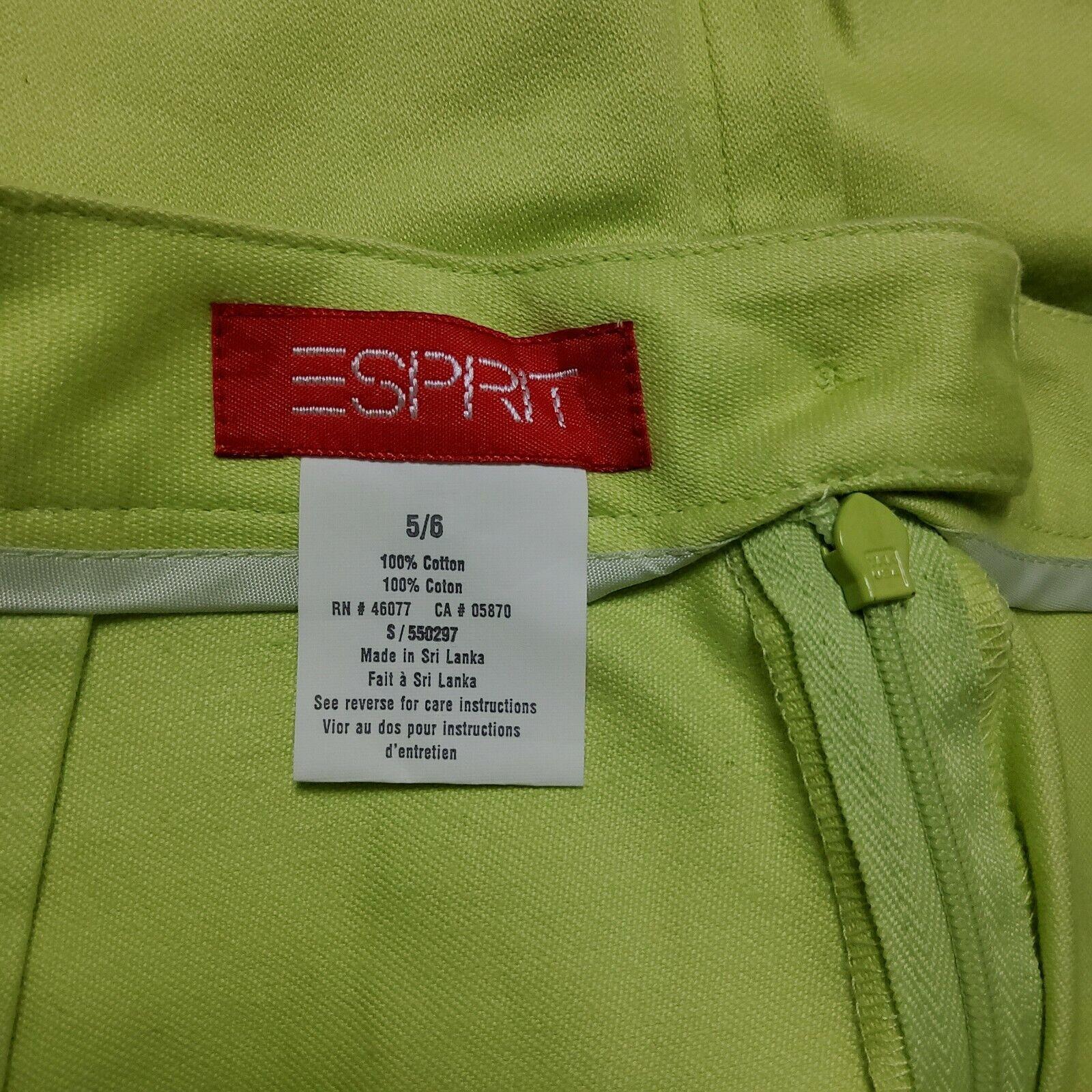 Esprit Neon Green Skirt - image 5