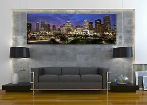 Image is loading Houston-Texas-City-Skyline-Canvas-Print-Art-Home- & Houston Texas City Skyline Canvas Print Art Home Decor Wall Art | eBay