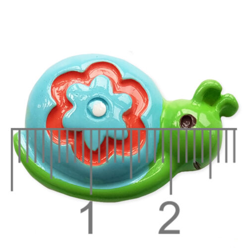 3pcs Cute Blue Snail Resin Flatback Cabochon Embellishment Scrapbooking Craft