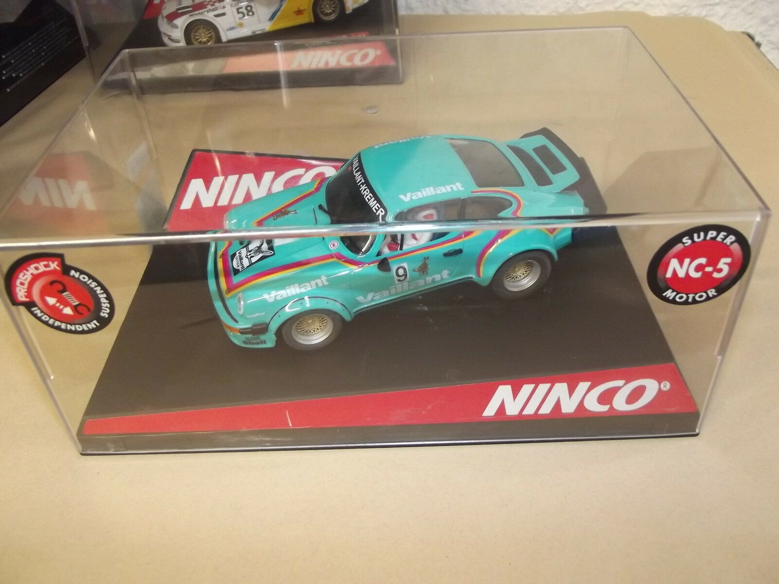 PORSCHE 934-VALLANT-VAILLANT-SUPERM MOTOR NC5-50331-SLOT CAR-NINCO-1 32-E26