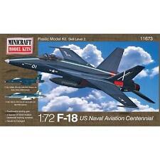 1/72 Minicraft F-18 Centennial USN Aviation with 2 Marking Options Model Kit