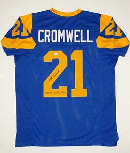 Nolan-Cromwell-Autographed-Blue-Pro-Style-Jersey-W-All-Decade-Team-JSA-W-Auth