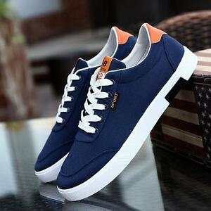 New Men's sports shoes Fashion Breathable Canvas Casual Athletic Sneakers Shoes
