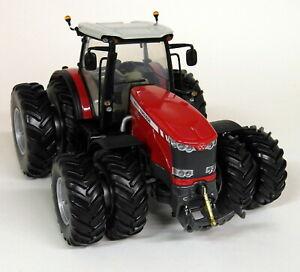 Uh échelle 1/32 Massey Ferguson Mf8690 roues doubles modèle de tracteur agricole moulé sous pression rouge