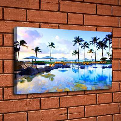 Blue Sky Beach Scenery Painting HD Print Canvas Home Decor Room Wall Art Picture