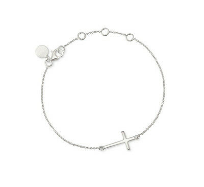 Gold/Silver/Rose Gold Color Plated Wishing Cross Good Luck Dot Bracelet New
