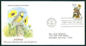 SûR États-unis Fdc 1982 Oiseaux & Plantes Kansas Tournesol Oiseau Birds Plant Oiesaux Cl79-afficher Le Titre D'origine