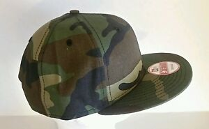 b57f20b5 Details about New Era 9Fifty Flat Snapback Hat Cap Blank Camouflage Army  Camo Military 9FIFTY