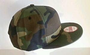 New Era 9Fifty Flat Snapback Hat Cap Blank Camouflage Army Camo ... 14fd75f041c