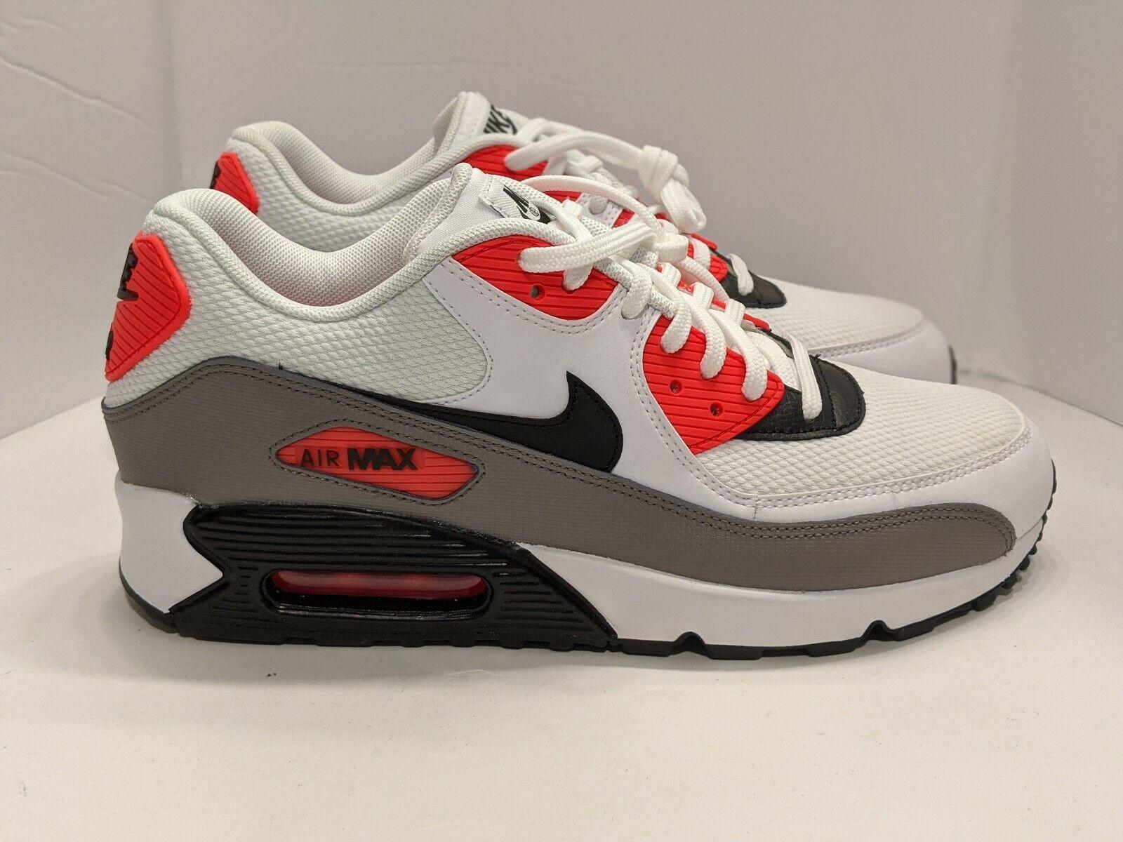 Nike Air Max 90 Solar Red White Black 325213 132 Women S Size 10 5