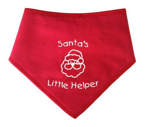 Spoilt Rotten Pets /'Santa/'s Little Helper/' Christmas  Xmas Costume Dog Bandana